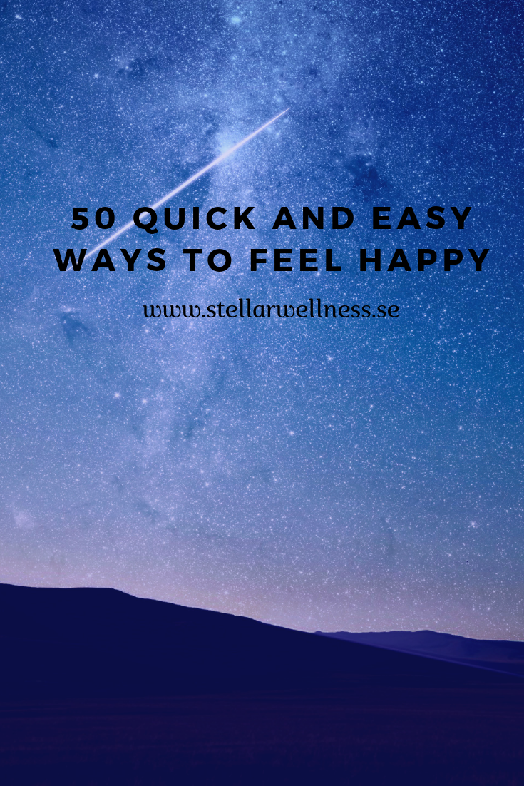 Ways to feel happy